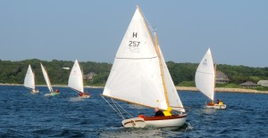 Buttercup (257) rounds the windward mark as Due Diligence (366), Phoenix (183),and Found It (289) pull away.