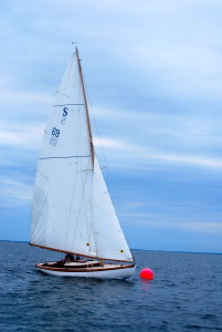 Teaticket sails to victory Saturday, to win the Quissett Yacht Club July 4th S class trophy.